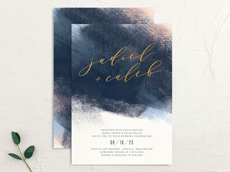 Brushstroke wedding invitations Black Friday sale