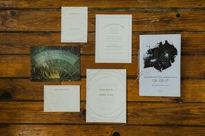 Custom Wedding Invitations with Celestial Details