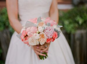 Pink Garden Rose and Peony Bridal Bouquet