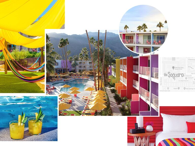 photo collage of The Saguaro Hotel Palm Springs, California