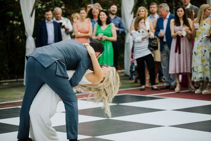 Traditional First Dance on Backyard Dance Floor
