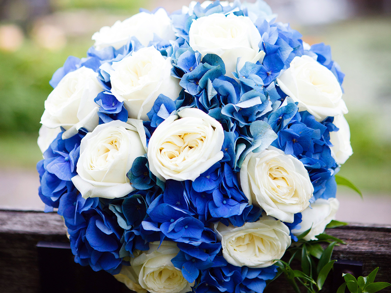 Blue bouquet something blue