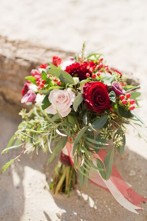 Rose, Hypericum Berry and Eucalyptus Bouquet
