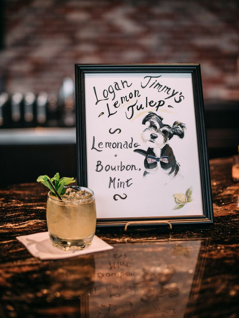 wedding drink ideas dog illustration