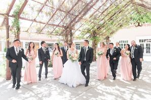 Pink One-Shoulder Bridesmaid Dresses