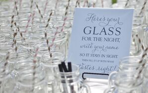 Mason-Jar Glasses With Striped Straws