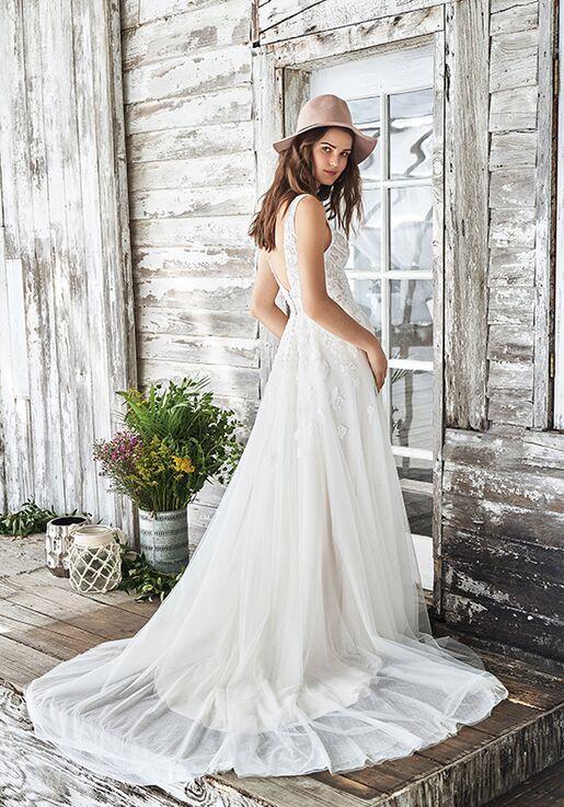 Lillian West 66042 A-Line Wedding Dress