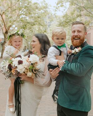 Family Wedding Portrait at Metropolist in Seattle, Washington