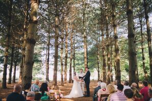 Rustic Pine Tree Thicket Wedding Ceremony