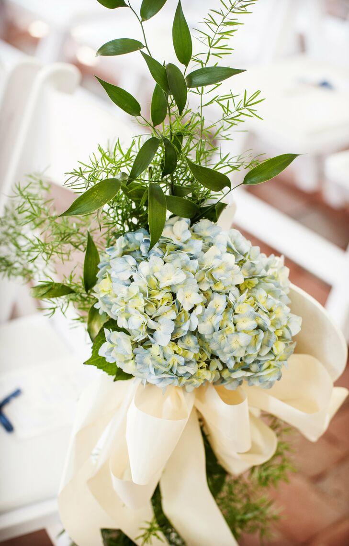 Blue Hydrangea Ceremony Decor