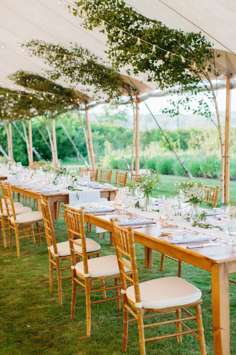tented weddings twinkly lights