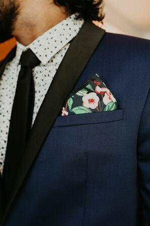 Groom's Wedding Tuxedo Details at the Miami Beach Botanical Garden in Miami Beach, Florida