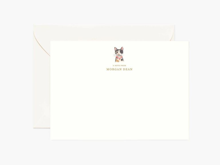 custom pet stationery gift for wife