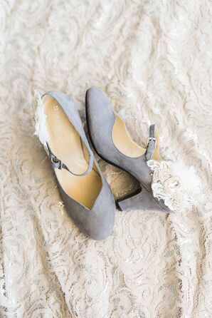 Lavender Wedding Shoes with Lace Detail