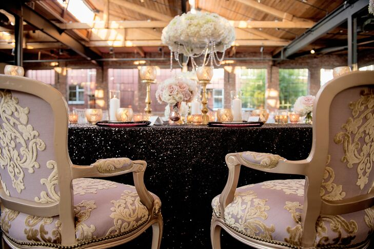Blush and Gold Louis IVX Sweetheart Chairs