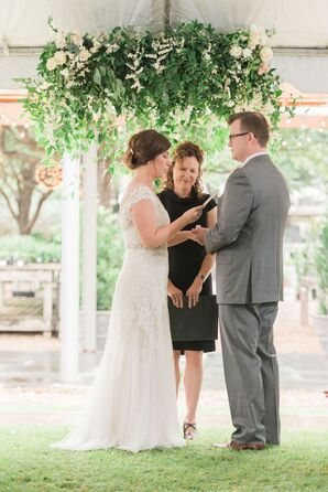 Suspended Green Vine Ceremony Backdrop