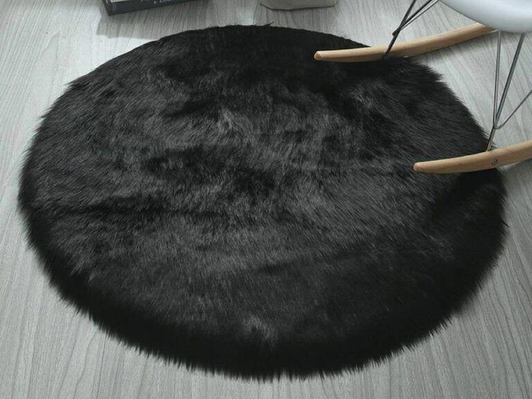 luxury faux fur rug