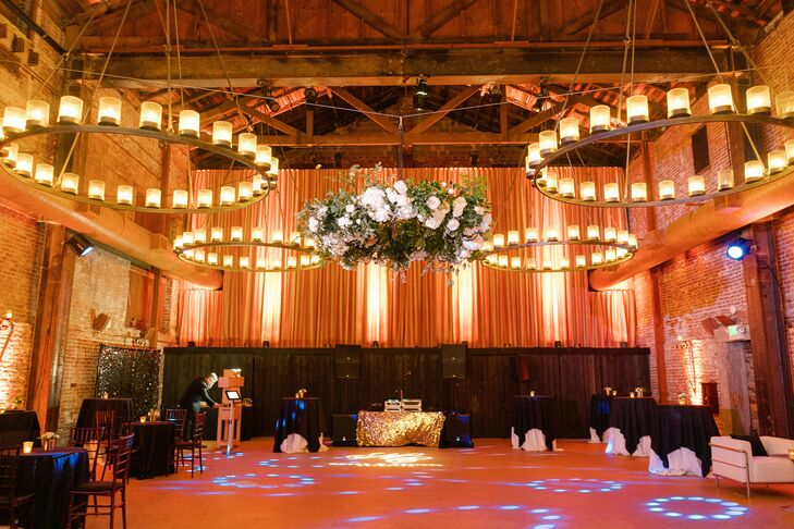 Reception Chandeliers and Uplighting at Wedding in Yountville, California