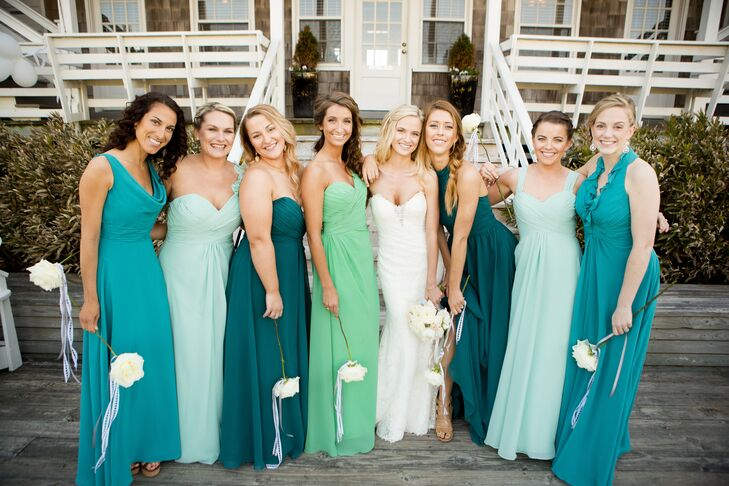 Turquoise Color Bridesmaid Dresses