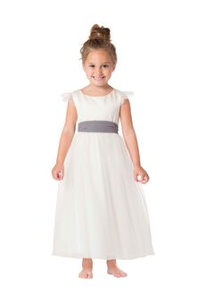 Bari Jay Flower Girls F6217 Ivory Flower Girl Dress