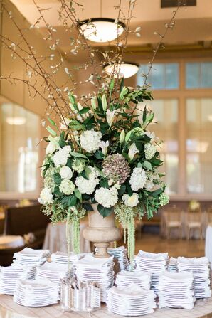 Luxe Ivory and Green Floral Arrangement
