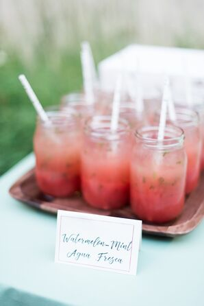 Watermelon Mint Agua Fresca Signature Cocktails in Mason Jars