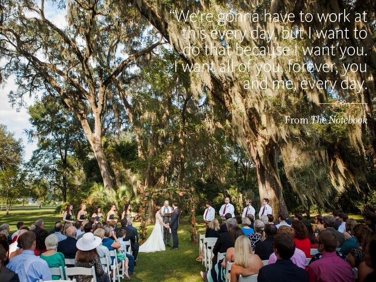 The Notebook wedding ceremony reading