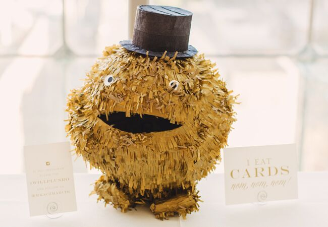 piñata wedding card holder