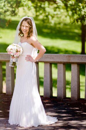 Simple, Elegant Strapless Wedding Gown