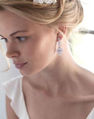 Dareth Colburn Kendall CZ Floral Earrings (JE-7080) Wedding Earring photo