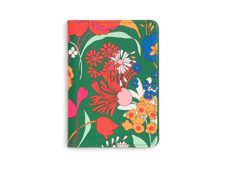 Floral passport cover bachelorette party gift