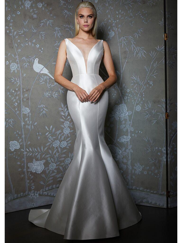 Legends by Romona Keveza wedding dress plunge v-neck trumpet gown