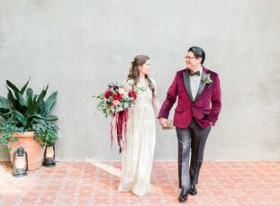 San Antonio–based newlyweds Angela Bazan (31 and a senior tax accountant) and Roberto Pacheco (35 and a sommelier) managed to keep mum on their offici
