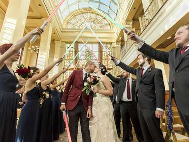 Star Wars Meets Gatsby in This Wedding