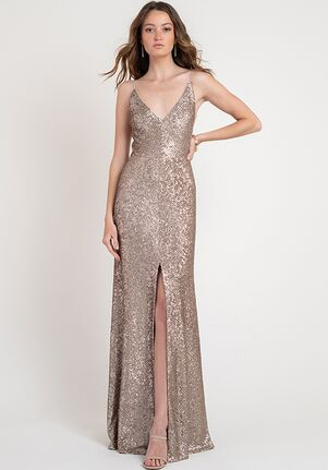 Jenny Yoo Collection (Maids) Zelda V-Neck Bridesmaid Dress