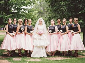 Tea-Length Vintage-Inspired Bridesmaid Gowns