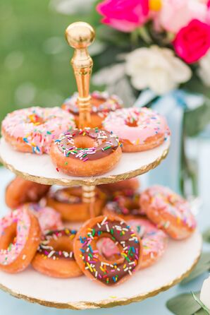 Tiered Doughnut Display with Sprinkles