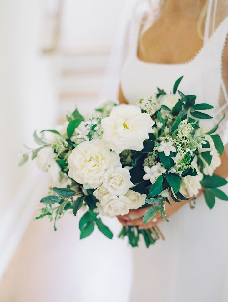 White-and-Green Bouquet for Wedding at Wye River Estate