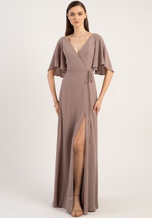 Jenny Yoo Collection (Maids) Ari V-Neck Bridesmaid Dress