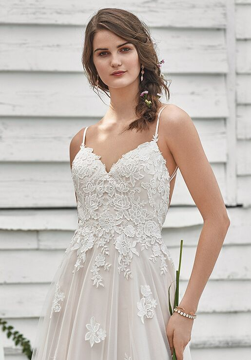 Lillian West 66045 A-Line Wedding Dress