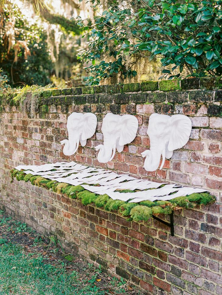 Elephant Head Escort Card Display