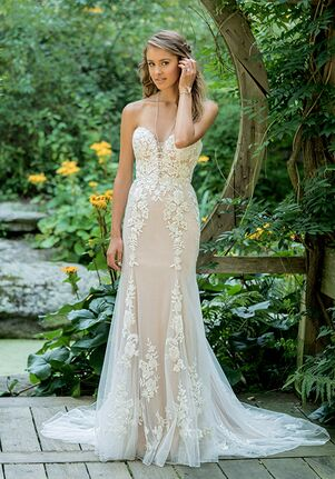 Lillian West 66009 A-Line Wedding Dress