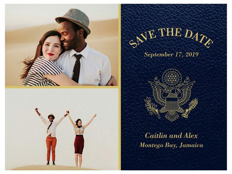 Shutterfly passport destination wedding save-the-date