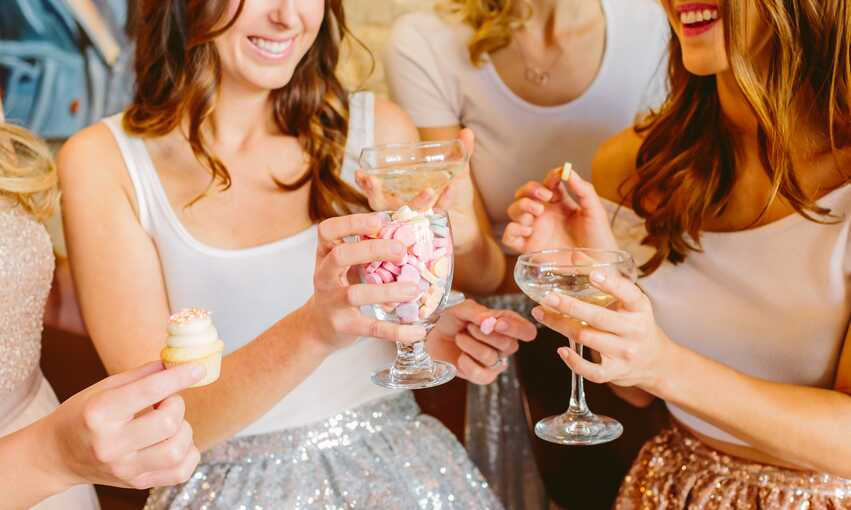 Glam Galentine's Day Brunch party themed inspiration and ideas