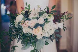 Pastel-Colored Lush Flower Bouquet