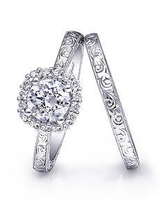 Coast Diamond Vintage Round Cut Engagement Ring