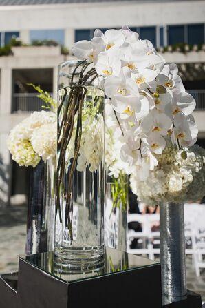 Elegant White Orchid Centerpiece