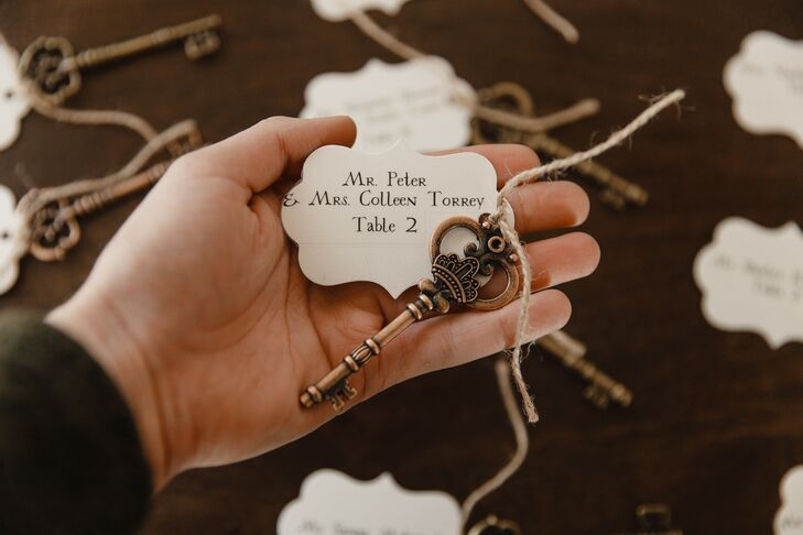Harry Potter-Inspired Escort Cards for Wedding at The Ryland Inn in Whitehouse Station, New Jersey