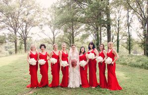 Long Fitted Red Bridesmaid Dresses