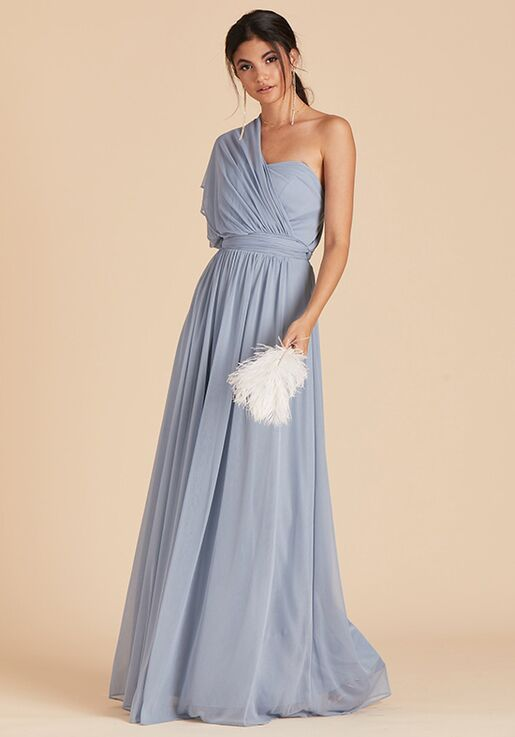 Birdy Grey Chicky Convertible Dress in Dusty Blue Sweetheart Bridesmaid Dress
